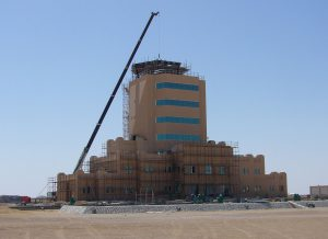 A Tex ATC air traffic control room under construction