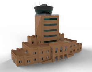 Tex ATC air traffic control room, CAD render